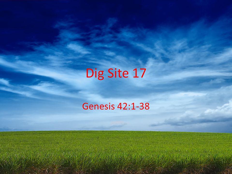 Dig Site 17 Genesis 42:1-38