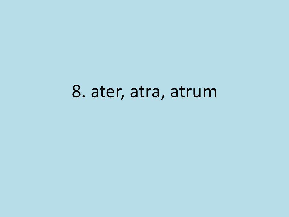 8. ater, atra, atrum