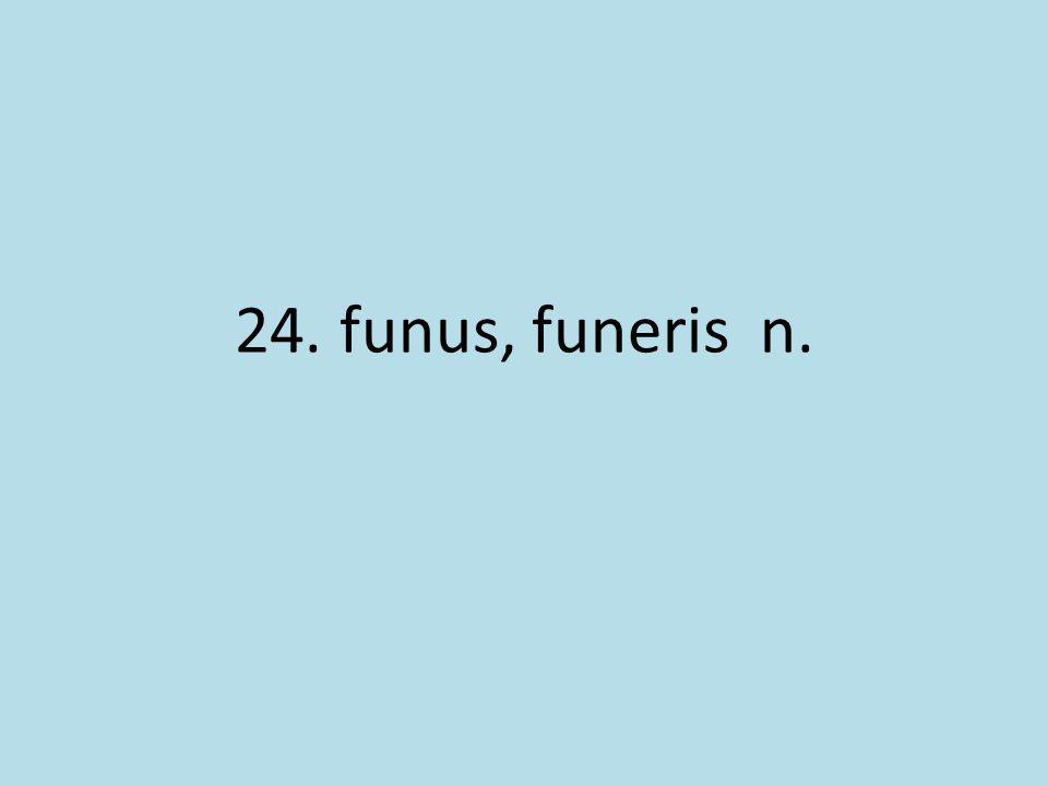 24. funus, funeris n.