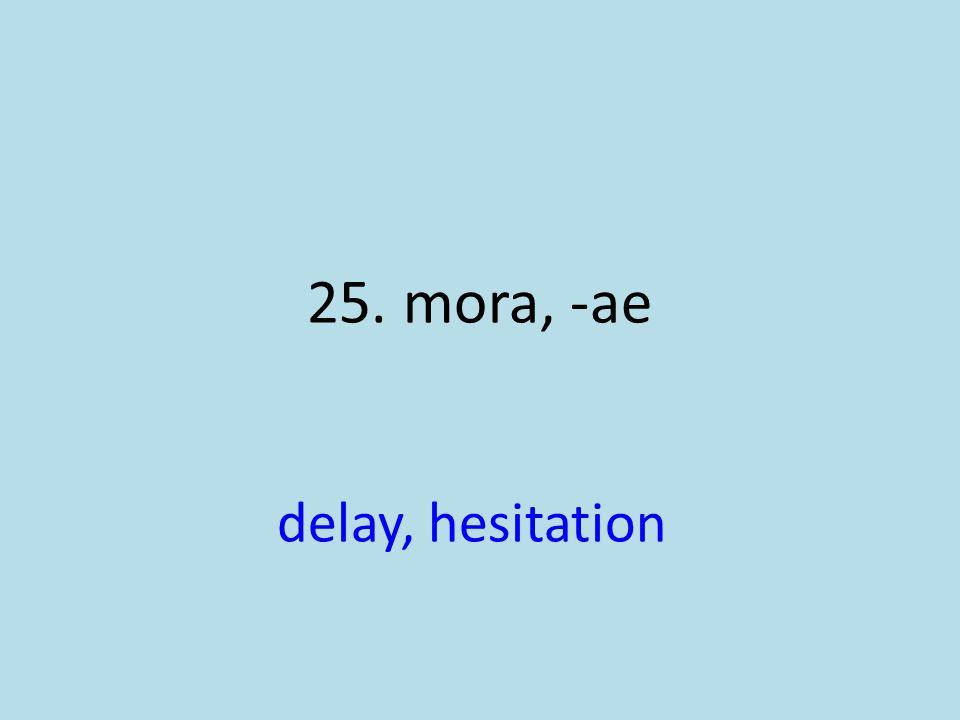 delay, hesitation