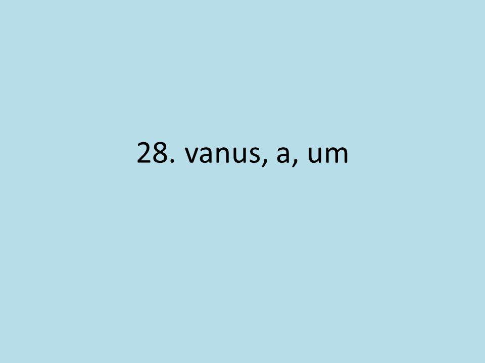 28. vanus, a, um