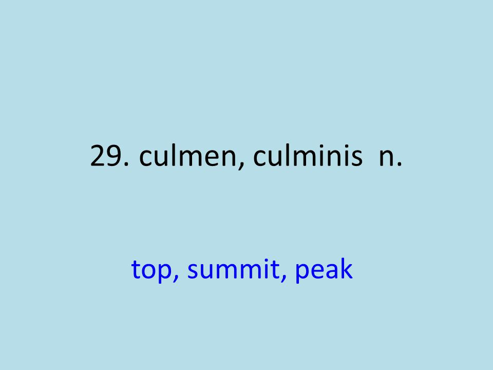 top, summit, peak