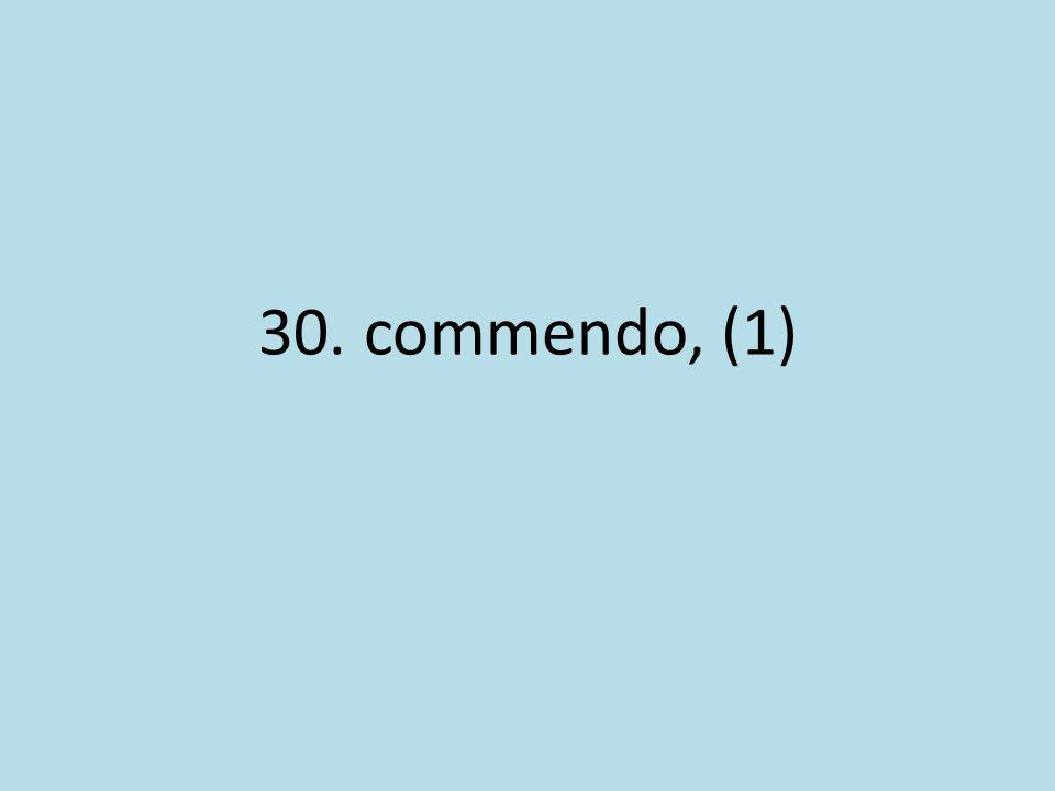 30. commendo, (1)