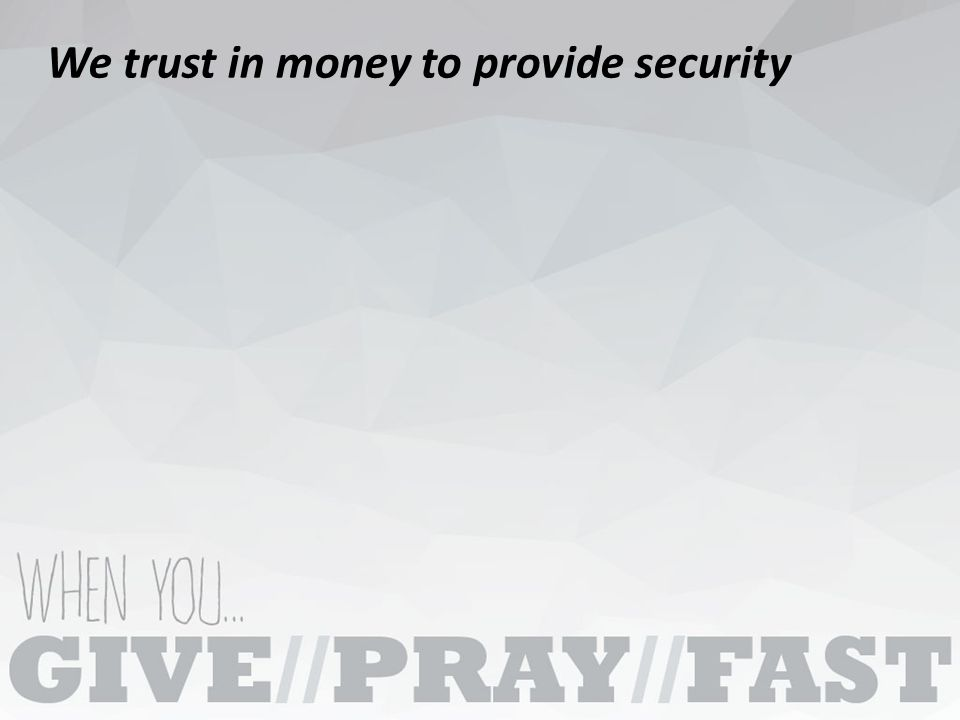 God doesn't require the tithe to be in right relationship with Him, but we need to tithe to learn to fully trust Him.