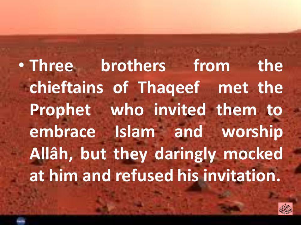 Six men from Khazraj tribe of Madina came to Makkah for hajj.