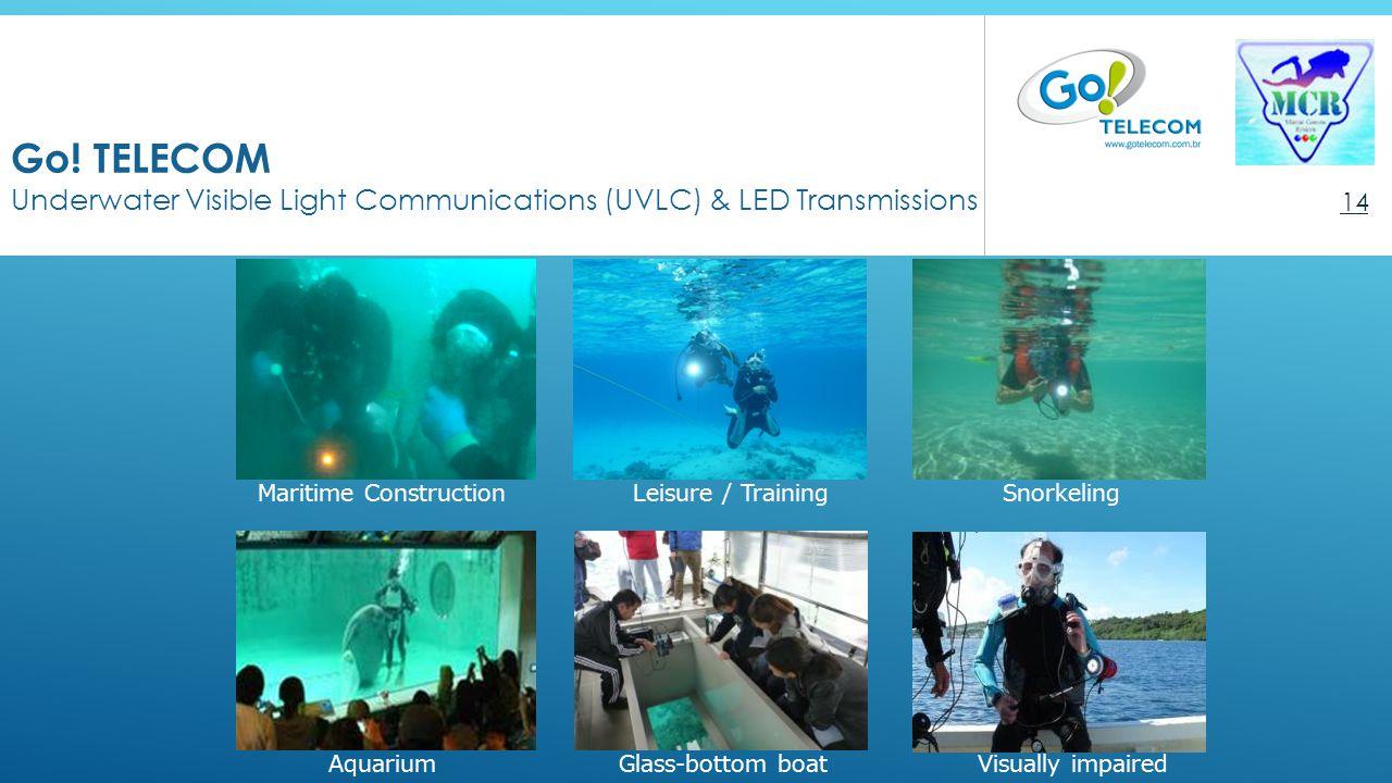 Go! TELECOM Underwater Visible Light Communications (UVLC) & LED Transmissions 14 Snorkeling Glass-bottom boatAquarium Leisure / Training Visually imp