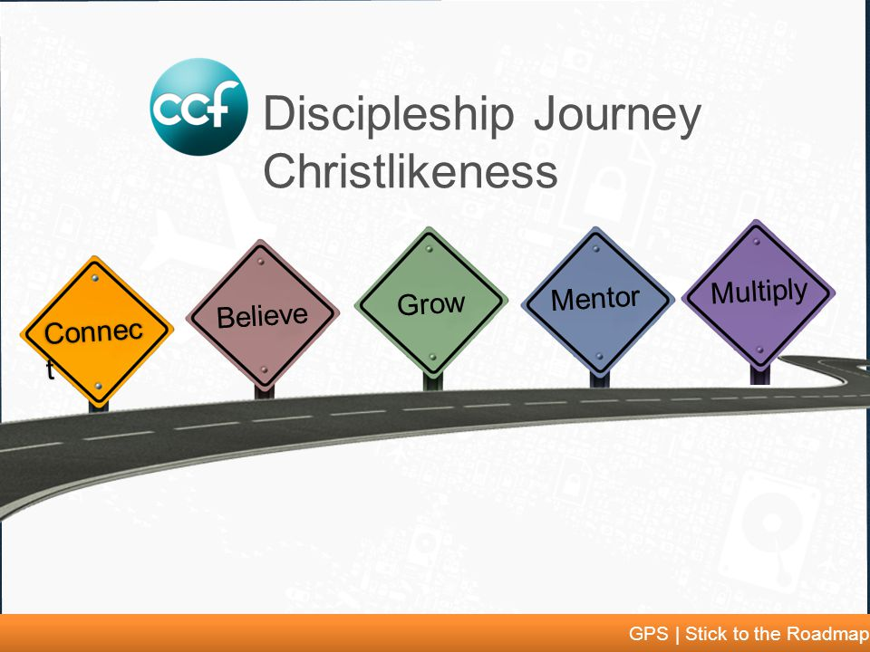 GPS | Stick to the Roadmap Connec t Discipleship Journey Christlikeness