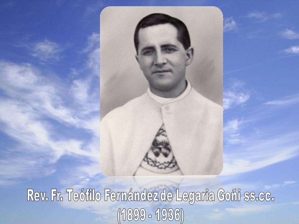 Fr.Teófilo was born in Torralba del Río (Navarra) on July 5th, 1898 Mrs.