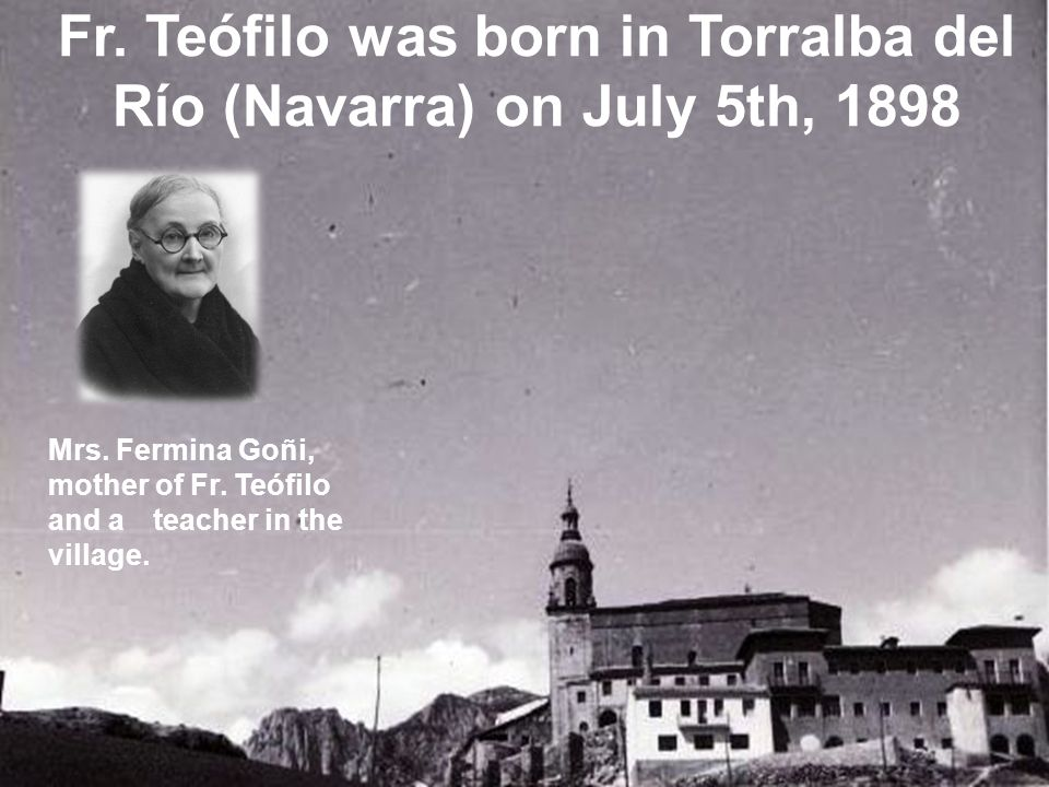  Was born in Laroco (Orense) on November 16th, 1904.