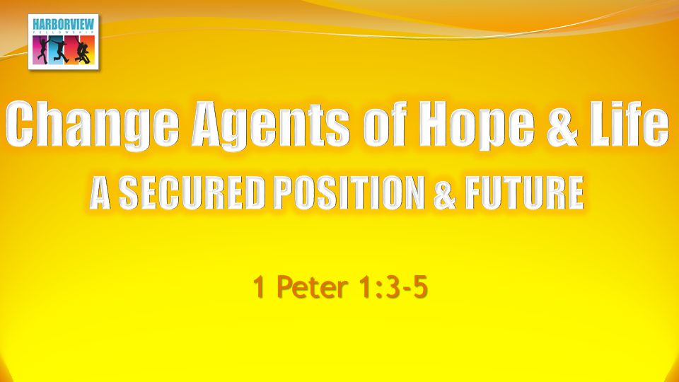 Change Agents of Life & Hope MESSAGE OF THE HEART What a God we have...