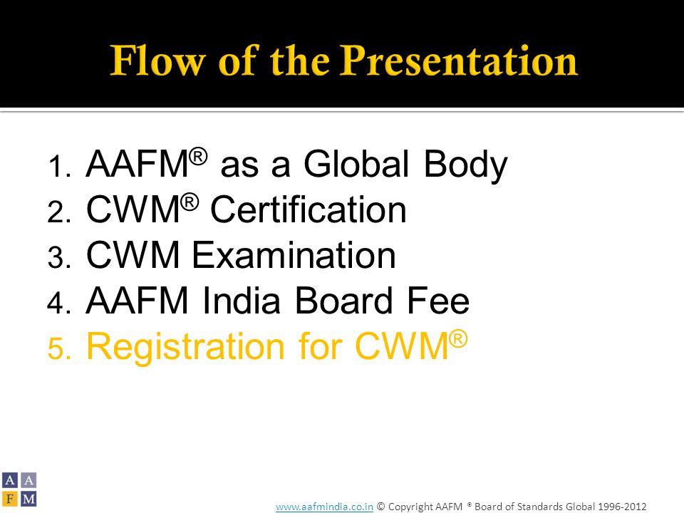 www.aafmindia.co.inwww.aafmindia.co.in © Copyright AAFM ® Board of Standards Global 1996-2012 1.