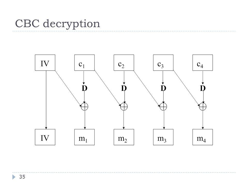CBC decryption 35