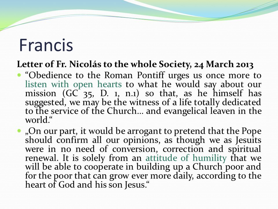 Francis Letter of Fr.