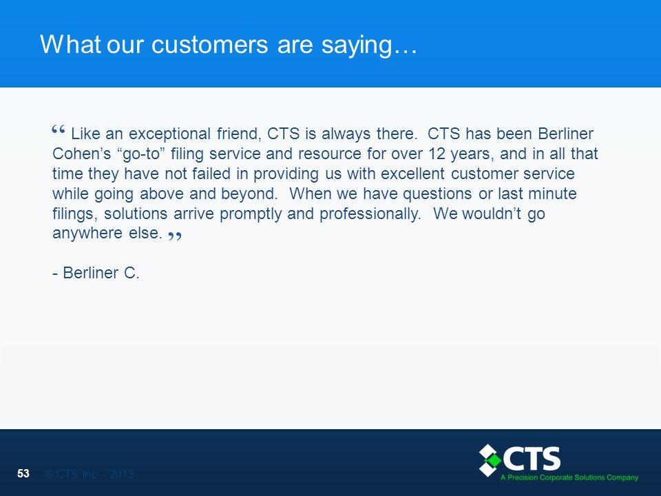 © CTS Inc.
