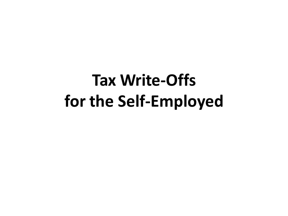 Tax Write-Offs for the Self-Employed