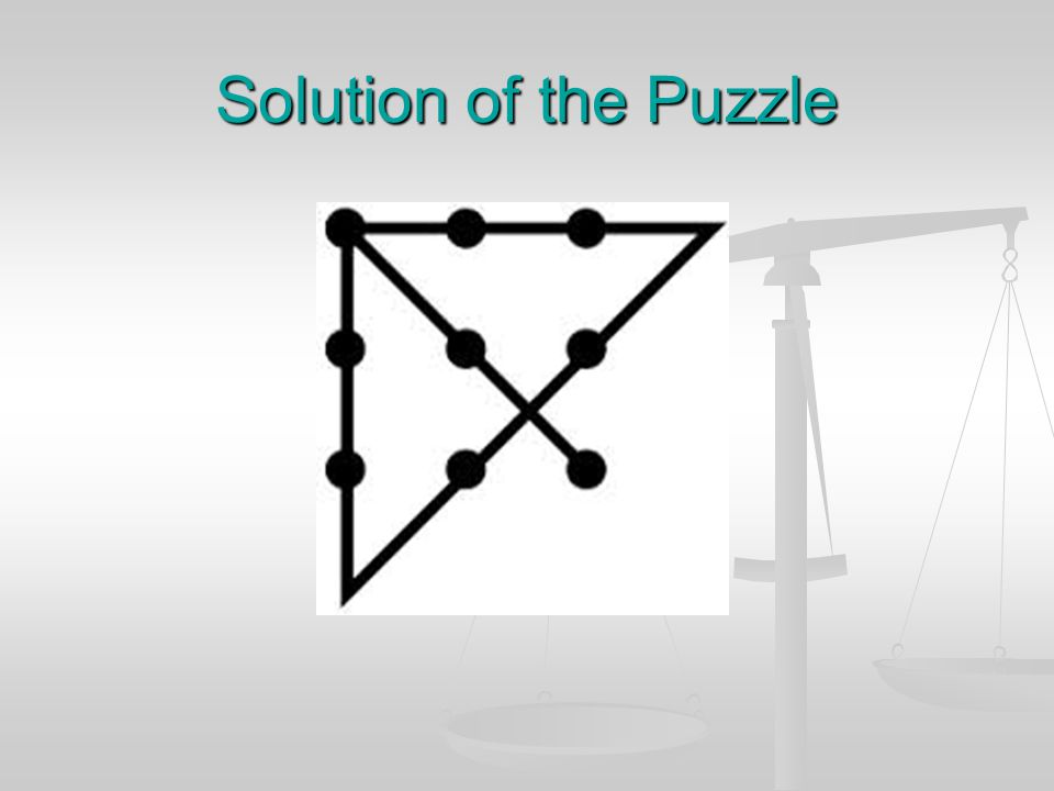 Solution of the Puzzle