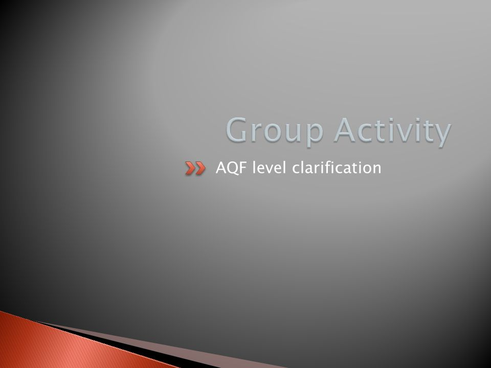 AQF level clarification