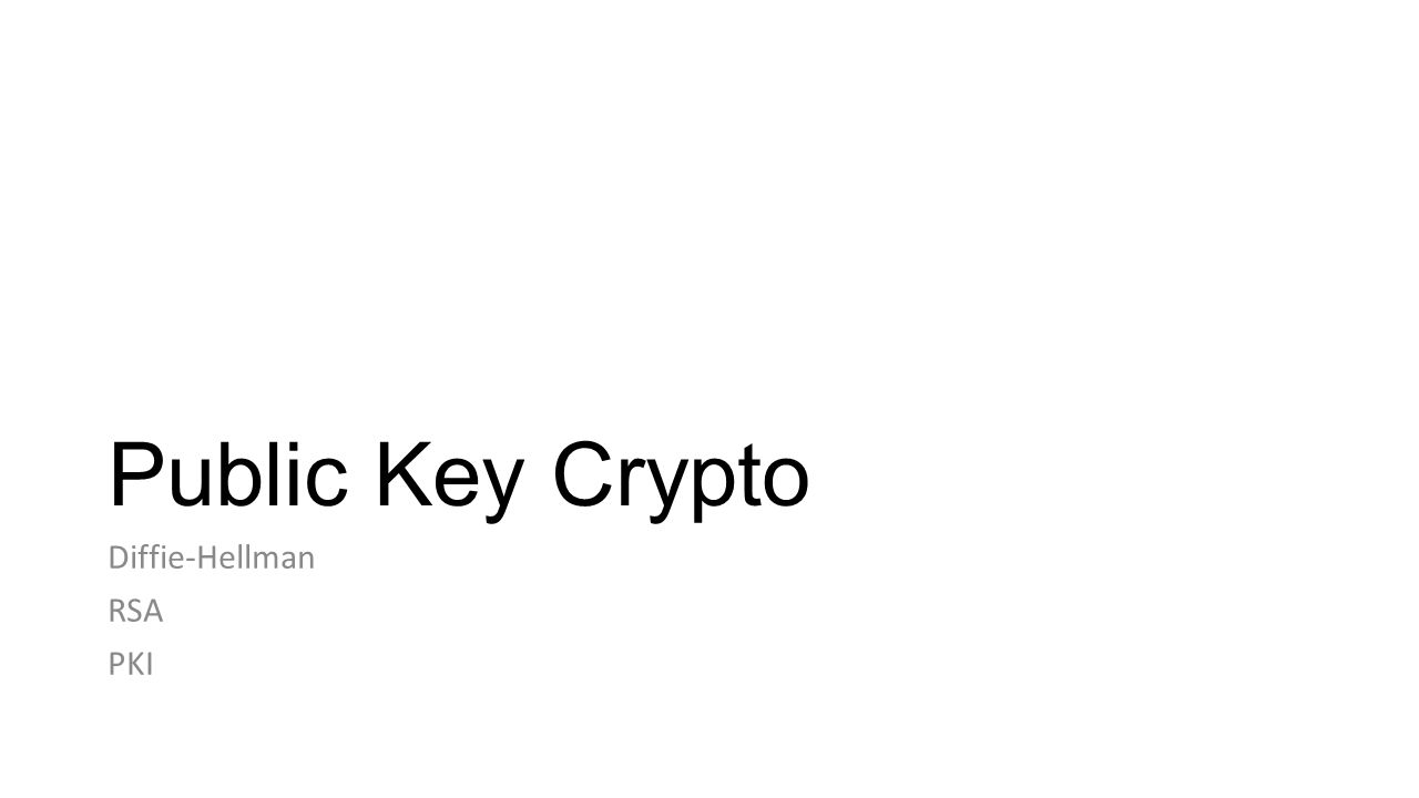 Applied Cryptography Public key crypto is a powerful tool But, understanding how it works and actually using it to build a secure system are two different things
