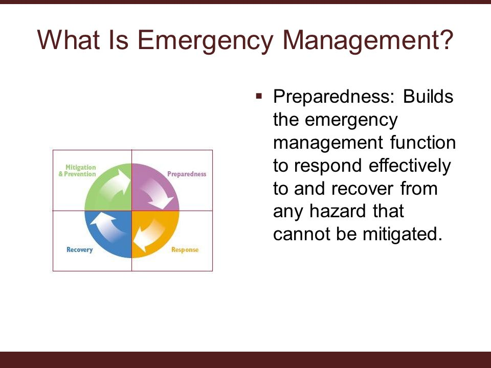 What Is Emergency Management.