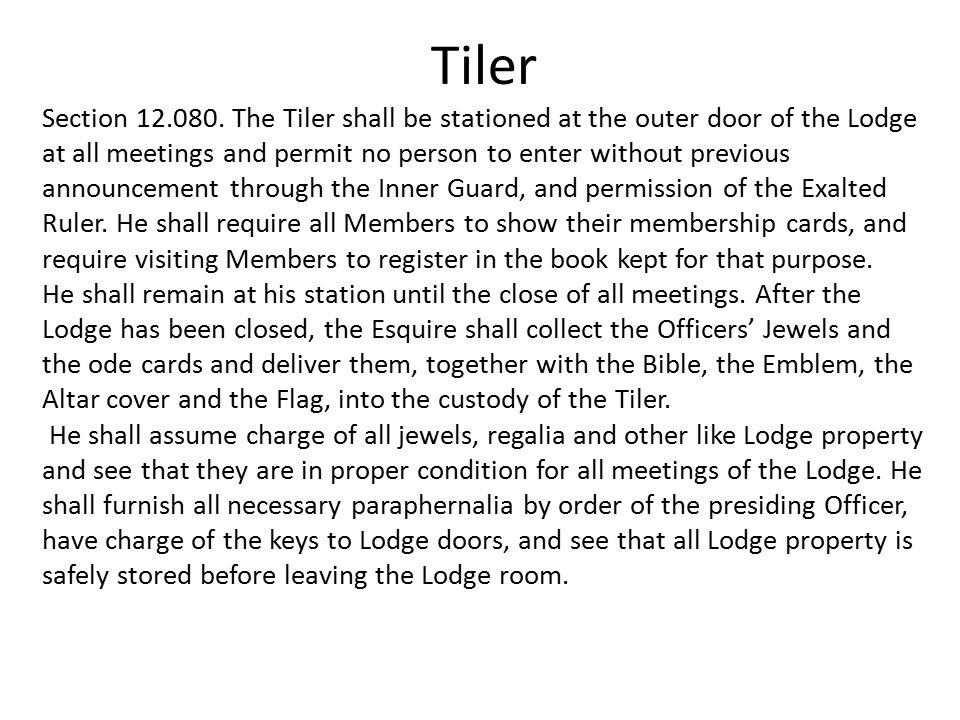 Tiler Section 12.080.