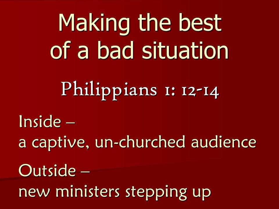 Perfect Message Imperfect Messengers I Corinthians 11: 1 Follow my example as I follow the example of Christ.