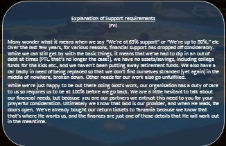 Explanation of Support requirements (FYI) Many wonder what it means when we say We're at 65% support or We're up to 80%, etc.