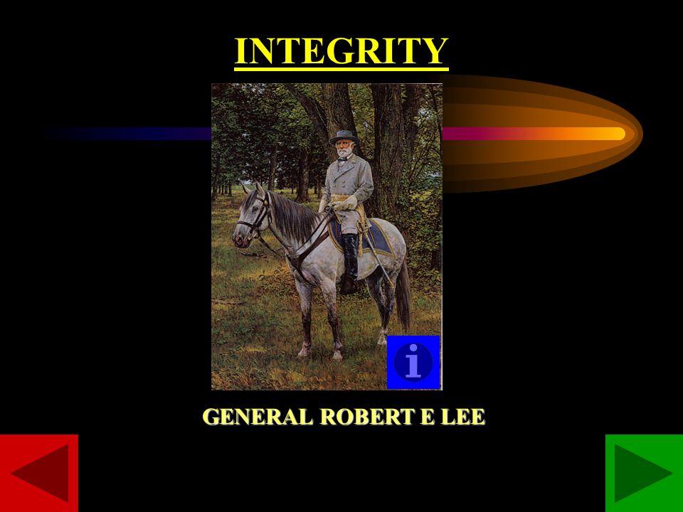 INTEGRITY GENERAL ROBERT E LEE