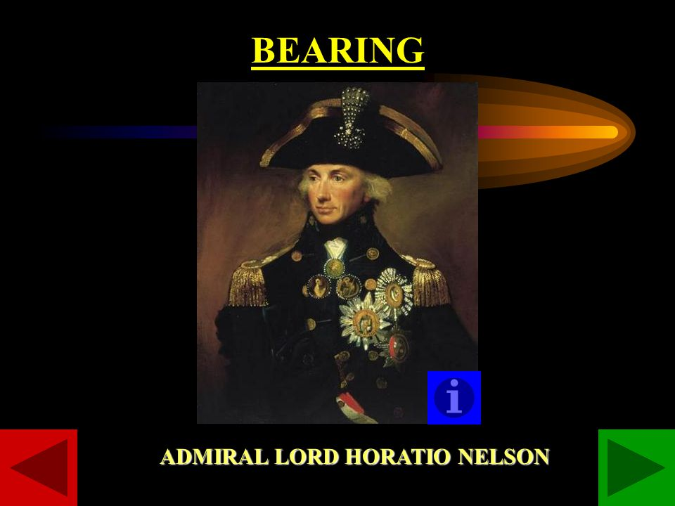 BEARING ADMIRAL LORD HORATIO NELSON
