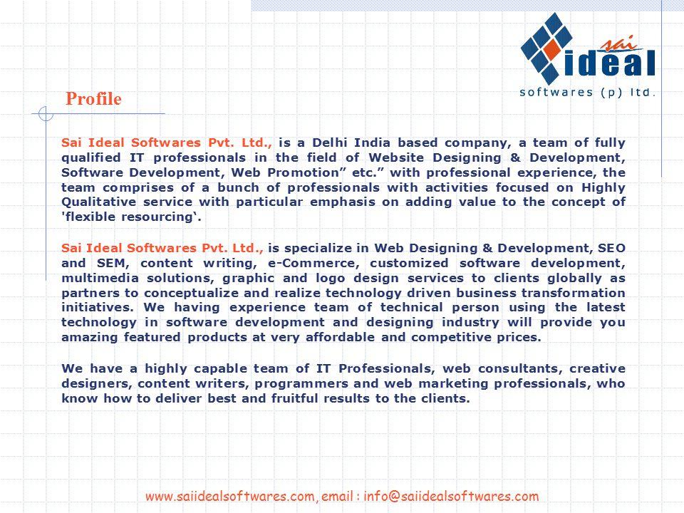 www.saiidealsoftwares.com, email : info@saiidealsoftwares.com