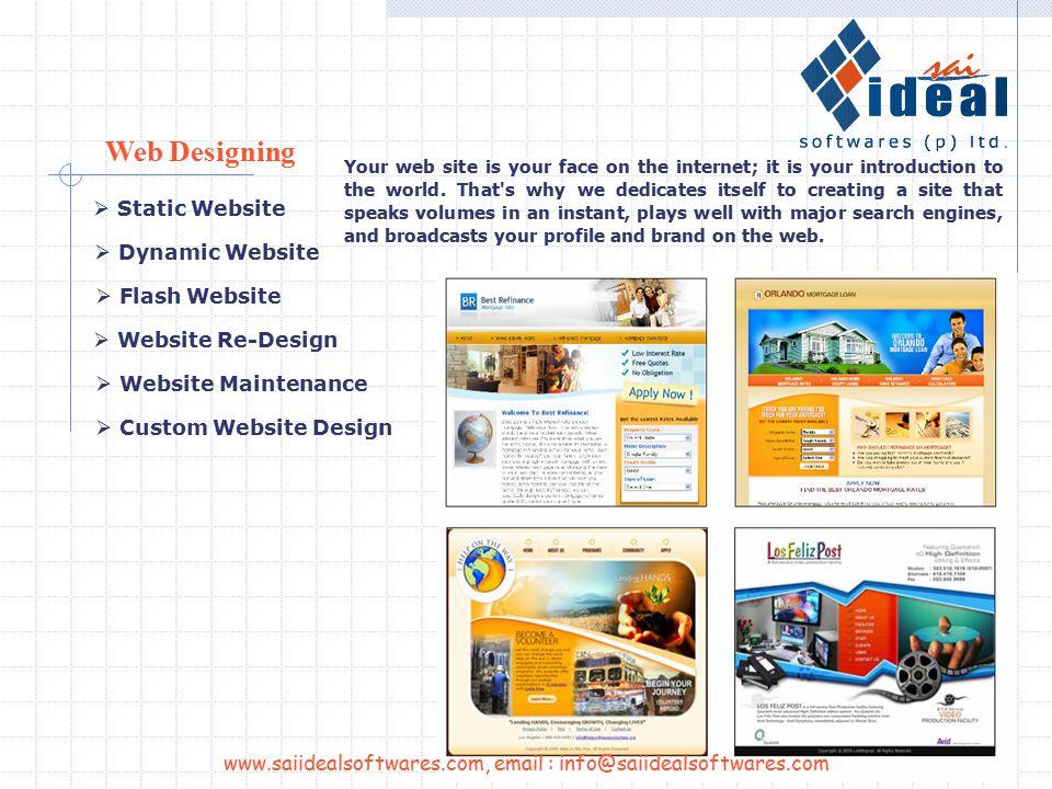Services www.saiidealsoftwares.com, email : info@saiidealsoftwares.com