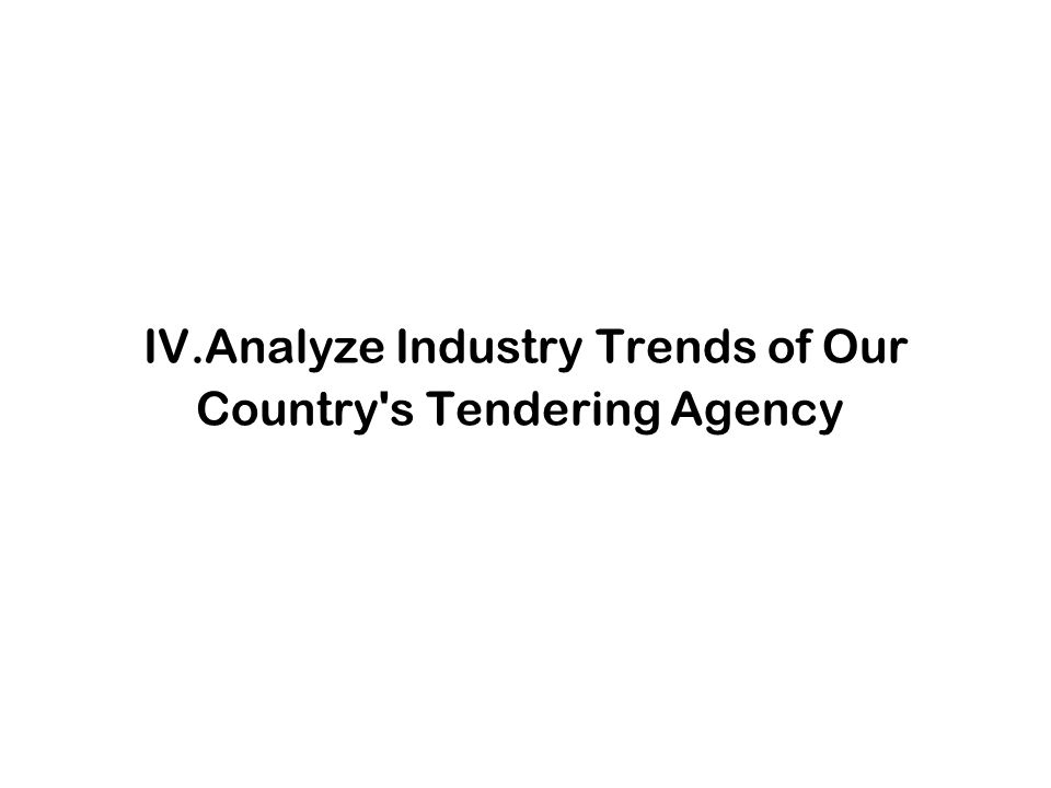 IV.Analyze Industry Trends of Our Country's Tendering Agency