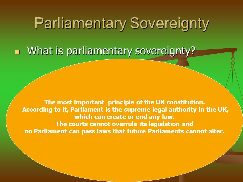 Jackson Decision in Jackson decision in Jackson decision Lord Hope was critical of parliamentary sovereignty : Lord Hope was critical of parliamentary sovereignty : Our constitution is dominated by the sovereignty of Parliament.