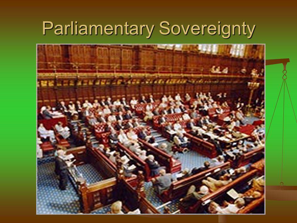 Constraints on parliamentary powers Membership in the EU Membership in the EU Human Rights Act 1998 Human Rights Act 1998 Devolution Devolution