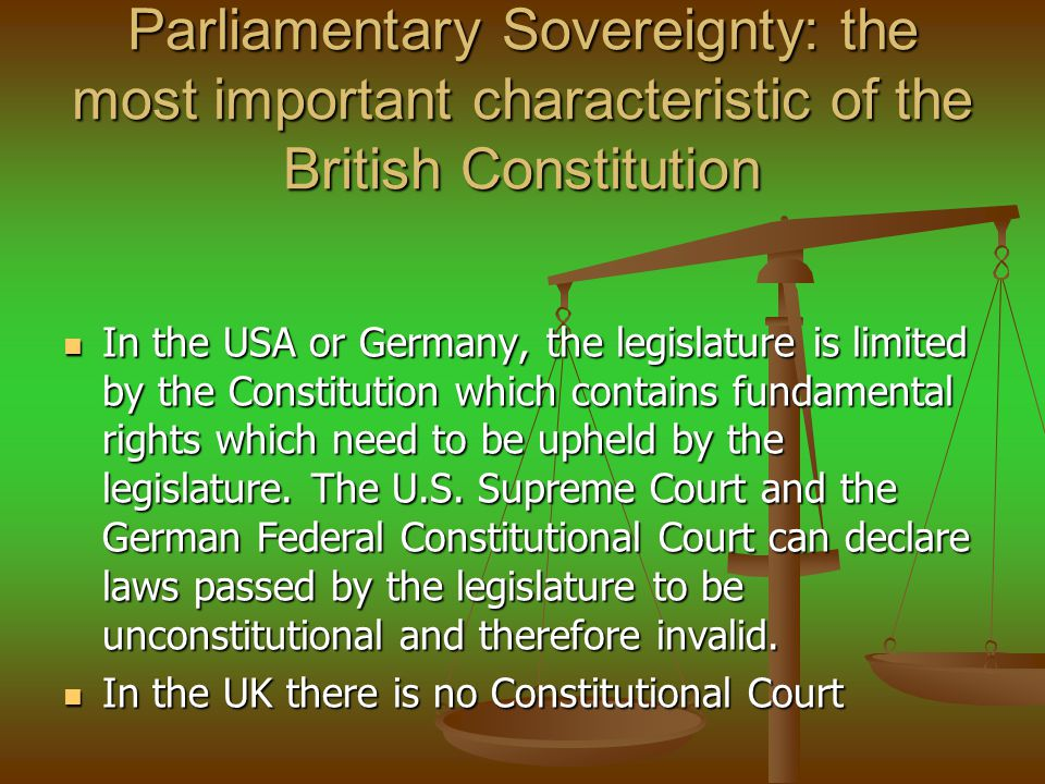 Sovereignty and the EU U K and the International Treaties: Dualist country : International Treaties binding on the State in international law only.