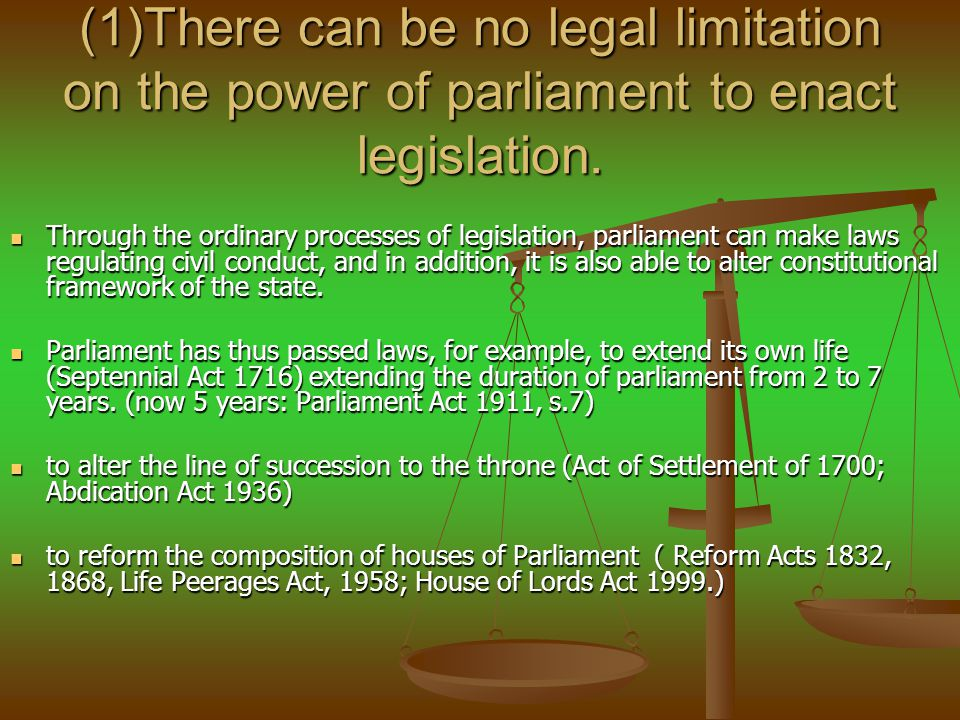 Parliamentary Sovereignty and the Human Rights Act (1) A new strong interpretative duty (1) A new strong interpretative duty (2) subordinate legislation may be quashed if incompatible (2) subordinate legislation may be quashed if incompatible (3) declarations of incompatibility (3) declarations of incompatibility (4) new ground of review (4) new ground of review (5) Strasbourg case law to be taken into account (5) Strasbourg case law to be taken into account (6) Parliament is not bound by the HRA but HRA is politically entrenched and cannot be impliedly repealed.