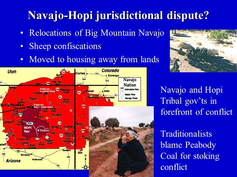 Navajo-Hopi jurisdictional dispute.