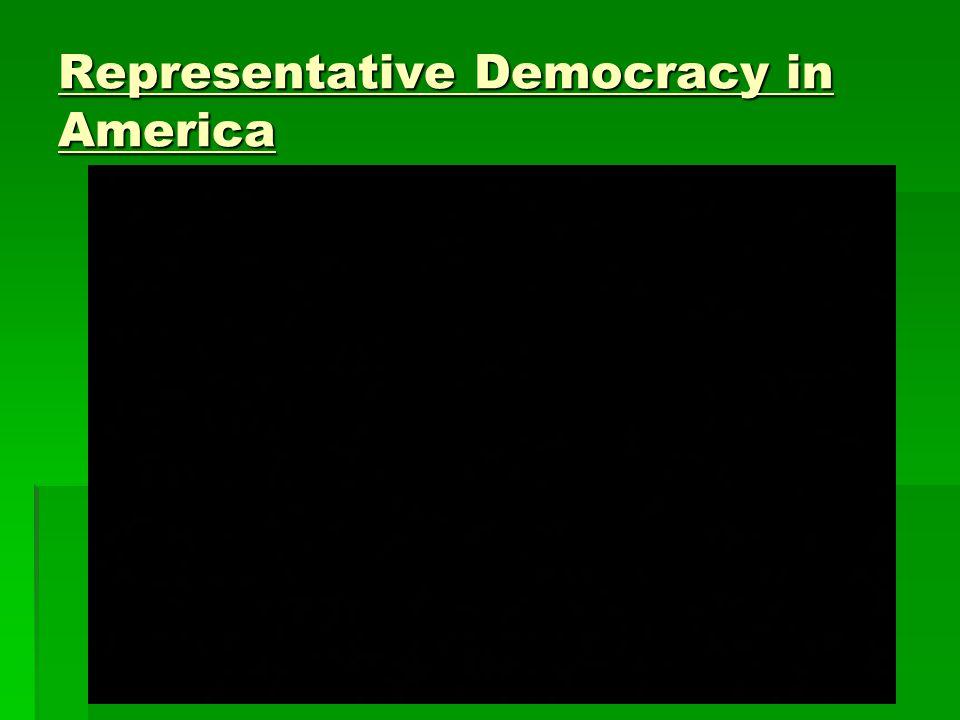 Representative Democracy in America