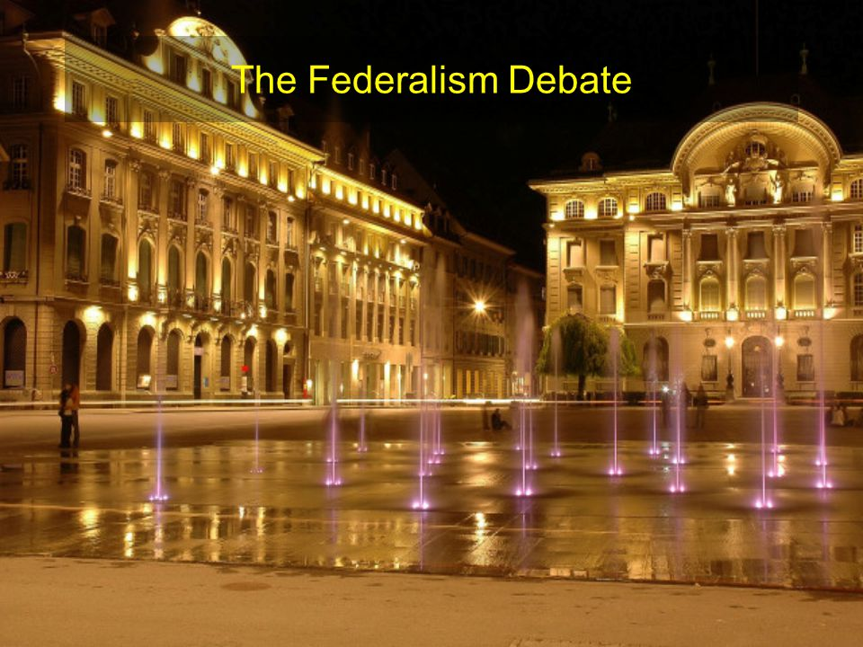 So where is federalism today.States or National government.