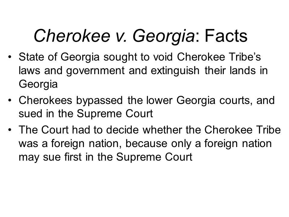 Cherokee v.