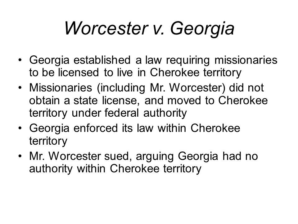 Worcester v.