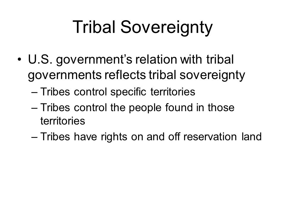 Tribal Sovereignty U.S.