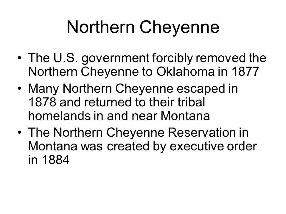 Northern Cheyenne The U.S.
