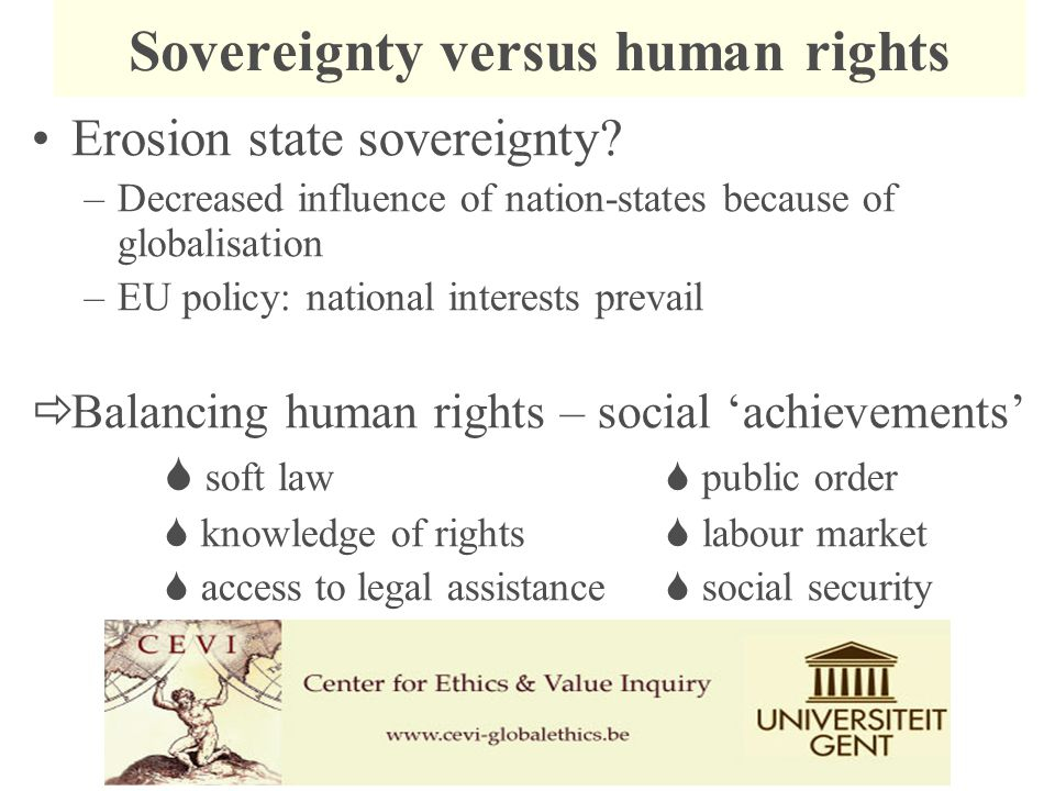  State sovereignty & human rights –The Security dilemma State security or human security.