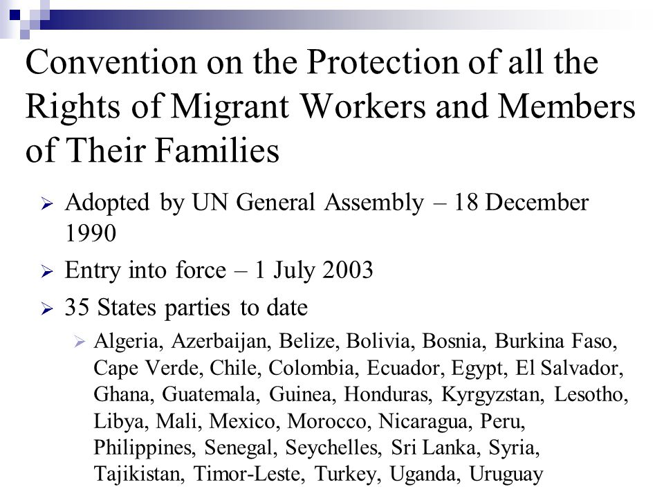 Migrant-specific and new rights  Prohibition on confiscation and destruction of identity and travel documents (e.g.