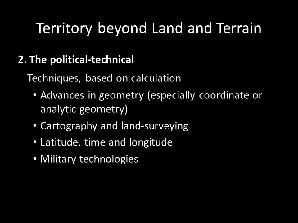 Territory beyond Land and Terrain 2.