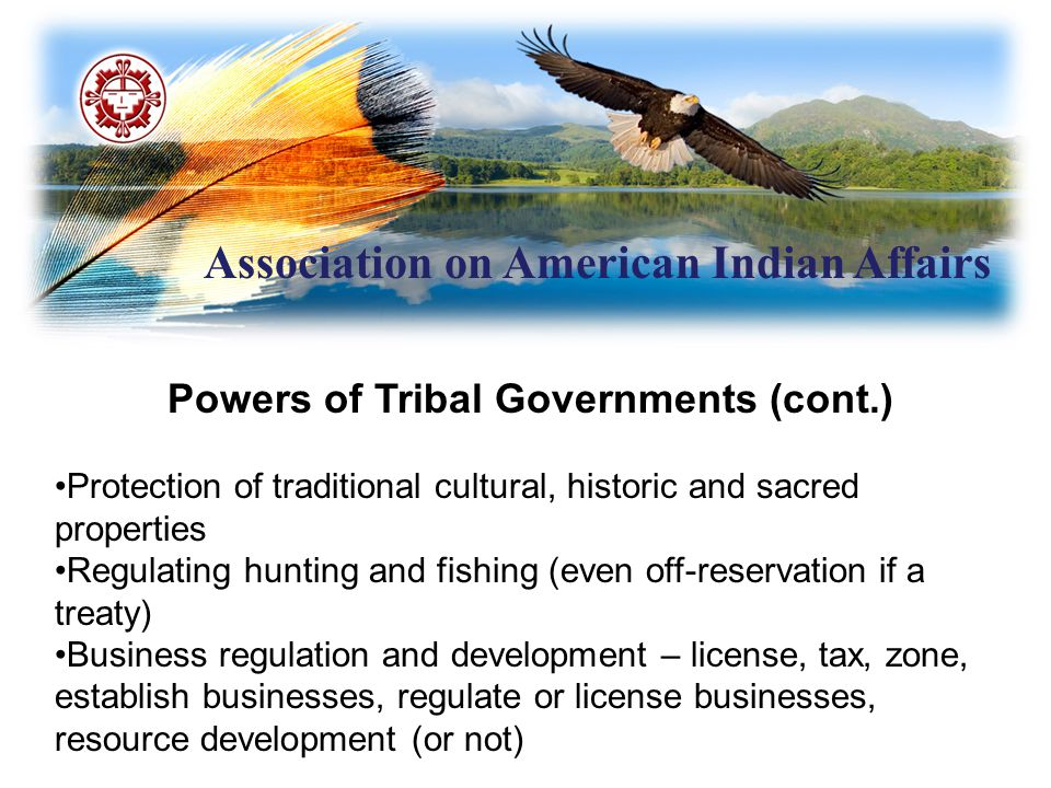 Association on American Indian Affairs Indian Self-Determination and Educational Assistance Act (cont.) 638 Contracts: Entitled to full amount of contract support costs United States Supreme Court ruled that obligation to pay contract support costs in full exists even if inadequate Congressional appropriations