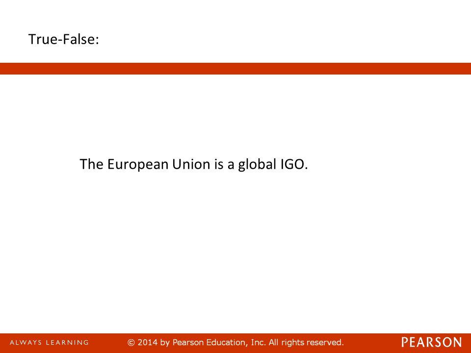 Answer : False