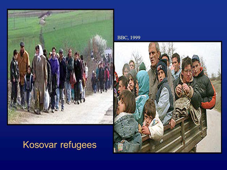Kosovar refugees BBC, 1999