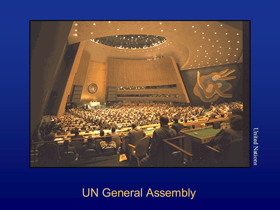 UN General Assembly United Nations