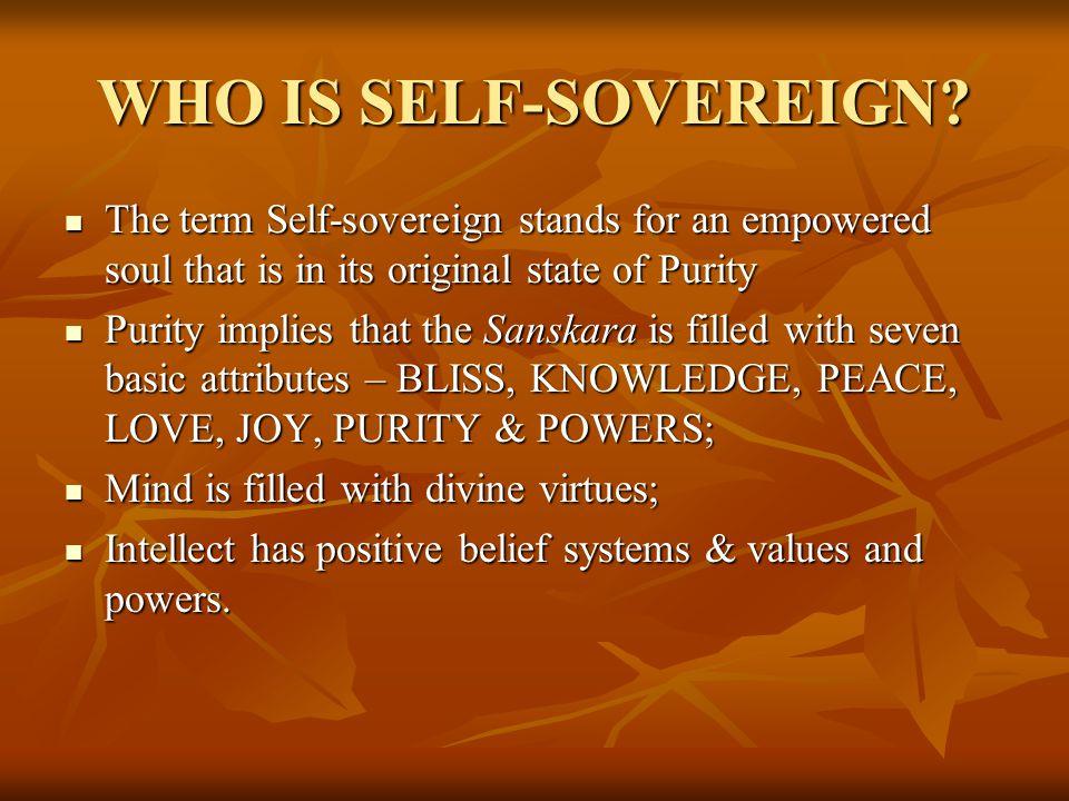 RAJAYOGA MEDITATION FOR GAINING SELF- SOVEREIGNTY